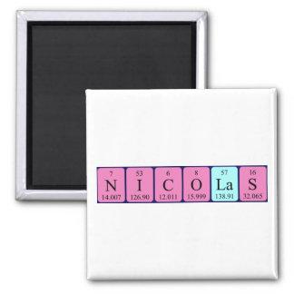 Nicolas periodic table name magnet