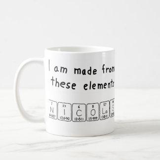 Nicolas periodic table name mug