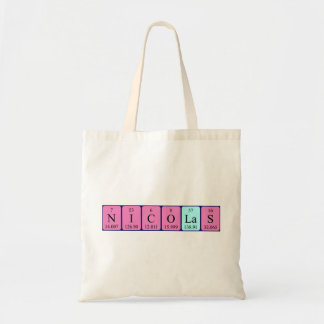 Nicolas periodic table name tote bag