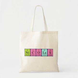 Nicolas periodic table name tote bag