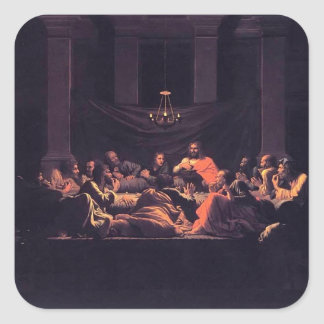 Nicolas Poussin- Eucharist Square Stickers