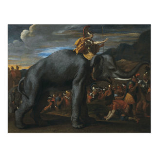 Nicolas Poussin - Hannibal crossing the Alps Postcard