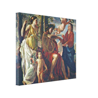 Nicolas Poussin - Inspiration of the poet Stretched Canvas Prints