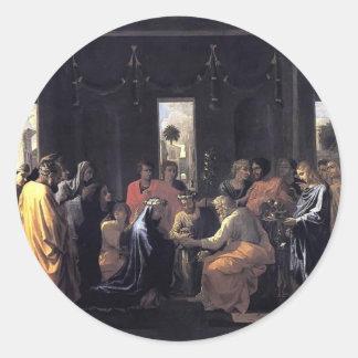 Nicolas Poussin- Marriage Round Sticker