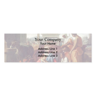 Nicolas Poussin- Rest on the escape to Egypt Business Card Templates