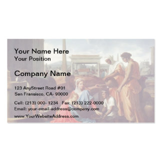 Nicolas Poussin- Rest on the escape to Egypt Pack Of Standard Business Cards