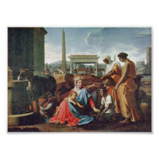 Nicolas Poussin - Rest on the Flight to Egypt Poster