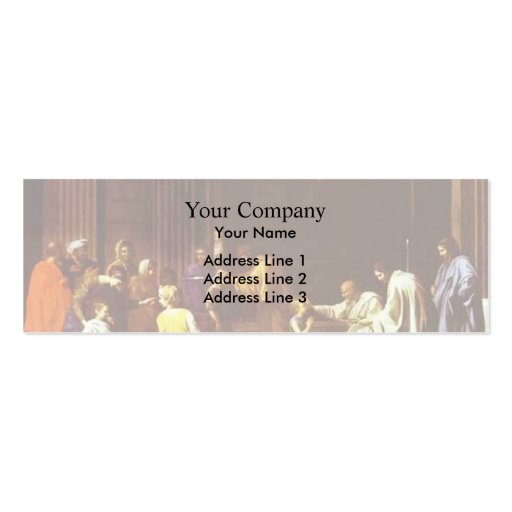 Nicolas Poussin- The Confirmation Business Card Template