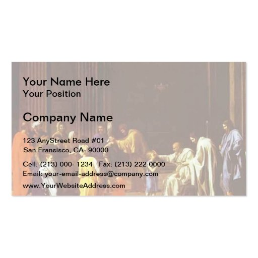 Nicolas Poussin- The Confirmation Business Card