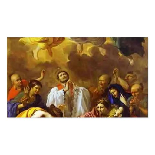 Nicolas Poussin- The Miracle of St. Francis Xavier Business Card Template