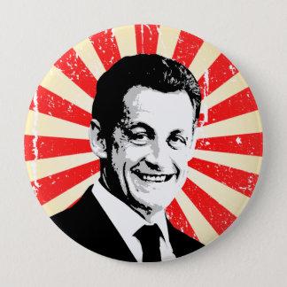Nicolas Sarkozy 10 Cm Round Badge