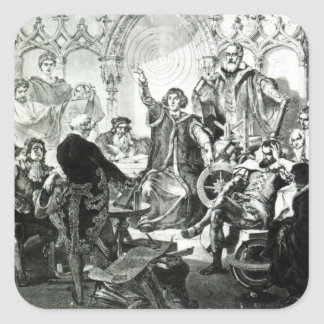 Nicolaus Copernicus  Explaining his Theory Sticker