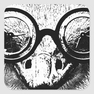 Nicolaus the ostrich in black white graphic stickers