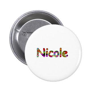 Nicole 6 Cm Round Badge