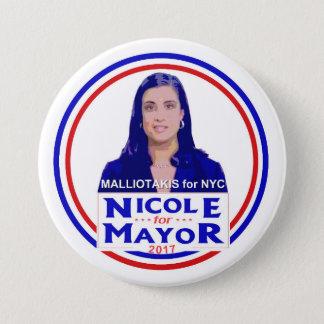 Nicole Malliotakis for NYC Mayor 7.5 Cm Round Badge