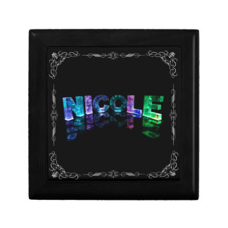 Nicole  - The Name Nicole in 3D Lights (Photograph Gift Box