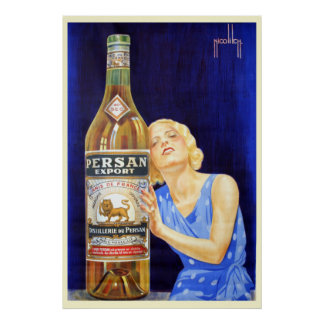 Nicolitch Persan Export Anis Liquor Poster