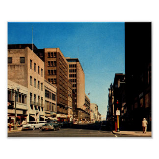 Nicollet Ave., Minneapolis, Minnesota Vintage Poster