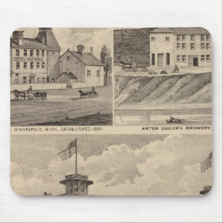 Nicollet House, Orth's Brewery, Minnesota Mouse Mat