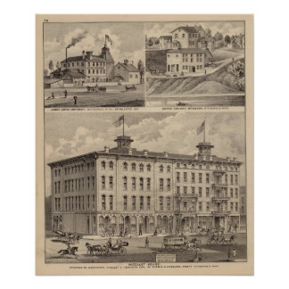 Nicollet House, Orth's Brewery, Minnesota Poster