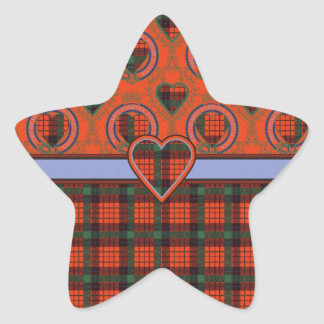 Nicolson clan Plaid Scottish tartan Star Sticker