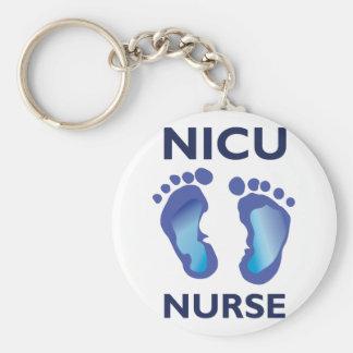 NICU Nurse Basic Round Button Key Ring
