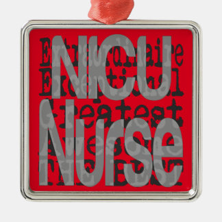 NICU Nurse Extraordinaire Silver-Colored Square Decoration