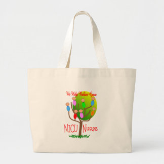 NICU Nurse Gifts, Adorable babies in a tree Large Tote Bag