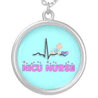 NICU Nurse Necklace, Sterling Silver Silver Plated Necklace
