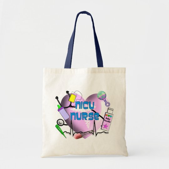 NICU Nurse Pink Heart Design Gifts Tote Bag