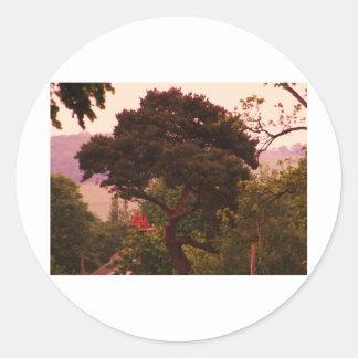Nidderdale Tree acessories Round Stickers