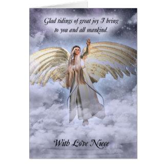 Niece Angel Christmas Card Religious