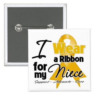 Niece - Appendix Cancer Ribbon Pinback Buttons