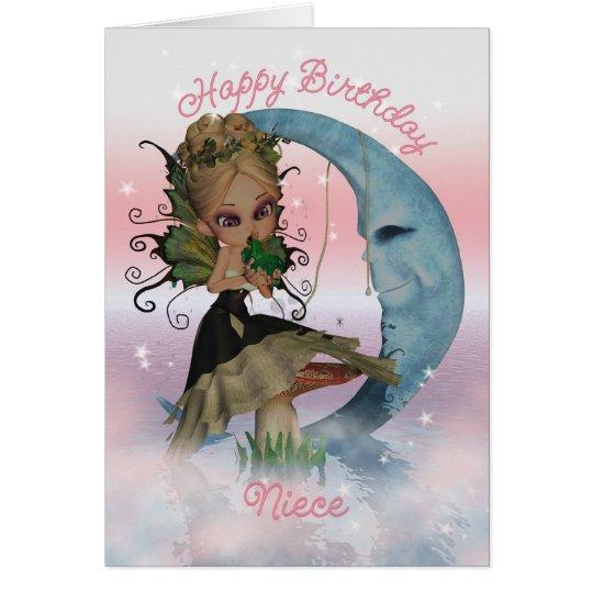 Niece Birthday Card With Cute Fairy And Frog Princ