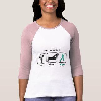 Niece Eat Sleep Hope - Ovarian T-shirts