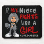 Niece Fights Like Girl 42.9 Diabetes Mouse Pad
