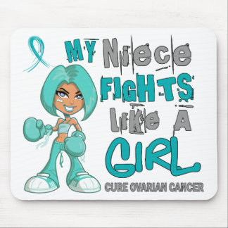 Niece Fights Like Girl Ovarian Cancer 42 9 png Mouse Pad
