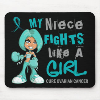 Niece Fights Like Girl Ovarian Cancer 42 9 png Mousepads