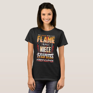 Niece Firefighter American Flag T-Shirt