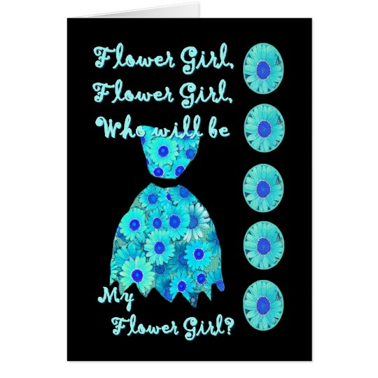 NIECE Flower Girl Invitation TURQUOISE Dress