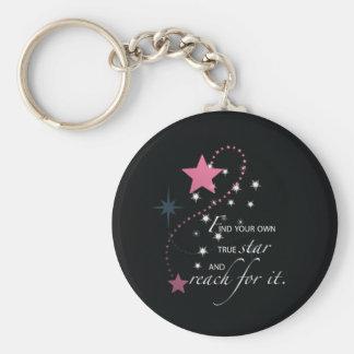 Niece Graduation Star, Gift, Custom Round Gifts Basic Round Button Key Ring