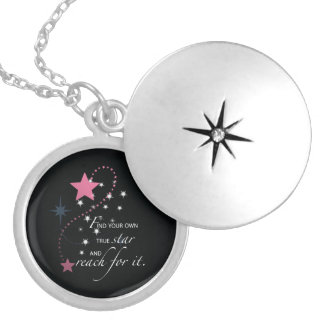 Niece Graduation Star, Gift, Custom Round Gifts Silver Plated Necklace