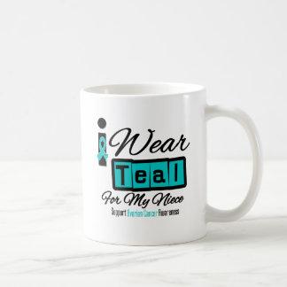 Niece - I Wear Teal Retro Ovarian Cancer Mug