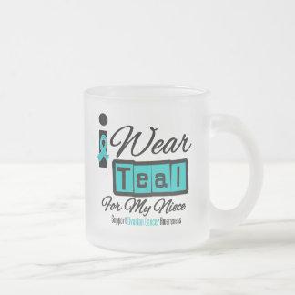 Niece - I Wear Teal Retro Ovarian Cancer Mugs