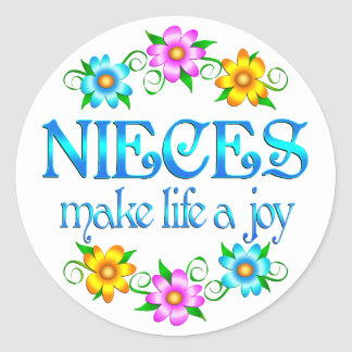 Niece Joy Classic Round Sticker