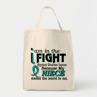 Niece Means World To Me Ovarian Cancer Grocery Tote Bag