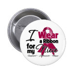 Niece - Multiple Myeloma Ribbon Buttons