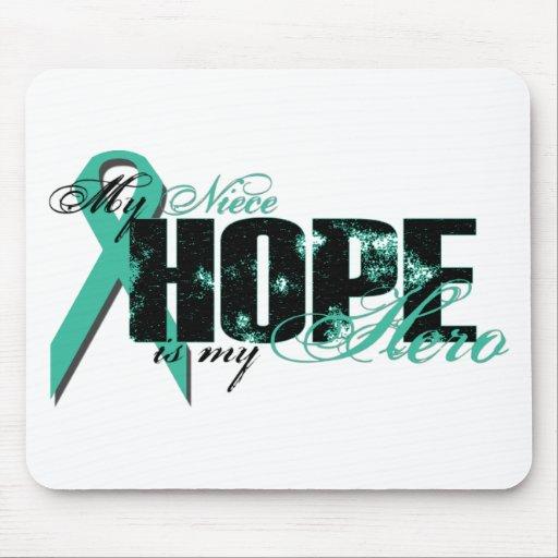Niece My Hero - Ovarian Hope Mouse Mat