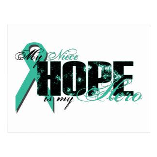 Niece My Hero - Ovarian Hope Postcard