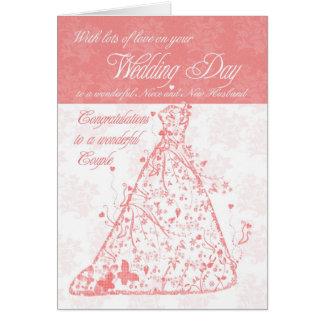 Niece & New Husband wedding day congratulations Greeting Card